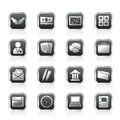 Simple Business And Office Icons Stock Photos - 54292923