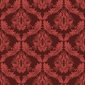 Seamless Damask Retro Wallpaper In Red Colors Royalty Free Stock Photo - 54295115
