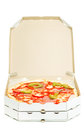 Open Box With Pizza Stock Images - 54298324