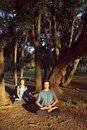 Yoga In The Park - Vertical Stock Photography - 5433832