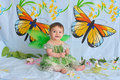Baby Girl With Butterfly Wings Stock Photo - 5437100