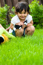 Playing Outside With Her Toys Stock Photos - 5439053