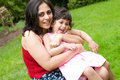 Mother And Daughter Playing Outside Royalty Free Stock Image - 5439086