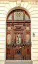Old Wooden Door With Ornaments Stock Photo - 54304950