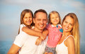 Happy Young Family With Two Children Outdoors. Summertime Stock Photography - 54306122