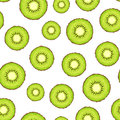 Seamless Background With Kiwi Slices. Vector Illustration. Royalty Free Stock Photo - 54308105