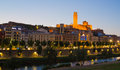 Lleida Cathedral And City With Evening Sky Stock Images - 54312874