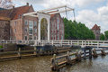 Bridge Crossing City Canal In Zwolle Stock Photo - 54314210