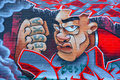 Street Art Montreal Strong Man Royalty Free Stock Photography - 54321417