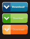Download Buttons Royalty Free Stock Photography - 54340837