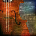 Abstract Grunge Background With Violin Stock Photos - 54349823