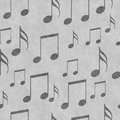 Gray Music Notes Tile Pattern Repeat Background Royalty Free Stock Photo - 54363195