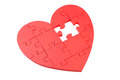 Red Puzzle Heart Royalty Free Stock Photo - 54363225