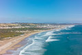 Aerial View Of Costa Caparica Coast Beach In Lisbon, Portugal Royalty Free Stock Photos - 54368808