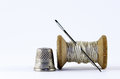 Old Spool Of Thread Stock Photography - 54372872