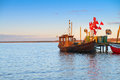 Old Wooden Fishermens Boat On Island Rugen, Northern Germany Royalty Free Stock Photo - 54390725