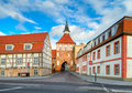 Old Town Gate In Stralsund, Northern Germany Royalty Free Stock Photography - 54392427