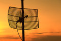 Silhouette Satellite Communication Antenna Royalty Free Stock Images - 54394329