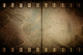 Grunge Old Motion Picture Reel With Film Strip Stock Photography - 54396542