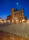 Old Town Hall And St. Nicolas Church In The Evening, Stralsund Royalty Free Stock Images - 54398189