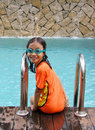 Young Girl At Swimming Pool Stock Photo - 5448650
