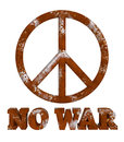 Rust Peace Sign No War Isolated Royalty Free Stock Photo - 54400735
