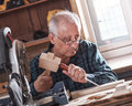 Senior Carpenter Working With Tools. Royalty Free Stock Photography - 54404347