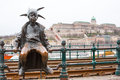 Budapest The Little Princess Jester Statue Against Stock Photo - 54406980