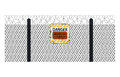 Fencing Element From A Barbed Wire Royalty Free Stock Photo - 54412985
