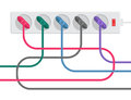 Power Strip And Cables Royalty Free Stock Photography - 54416937
