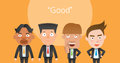Business Corporation Good Mans Concept Flat Character Royalty Free Stock Image - 54418616