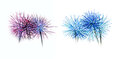 Set Of Colorful Fireworks Light On White Background Royalty Free Stock Photos - 54418678
