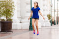 Using A Jump Rope In The City Royalty Free Stock Image - 54422786