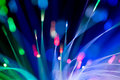 Optical Fibres Abstract Blurred Technology Background Royalty Free Stock Images - 54423719
