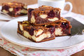 Cherry Cheesecake Marbled Brownies Royalty Free Stock Images - 54429289
