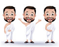 Muslim Man Characters Wearing Ihram Cloths For Performing Hajj Or Umrah Stock Images - 54432134