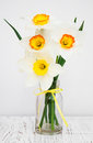 Daffodils In A Vase Stock Photos - 54447033