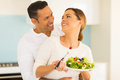 Couple Eating Salad Royalty Free Stock Photography - 54453577