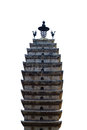 Temple Tower Isolated Royalty Free Stock Photo - 54465125