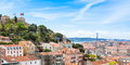 Panoramic View Of Miradouro Da Graca Viewpoint  In Lisbon, Portu Stock Images - 54487024