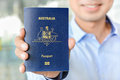A Man Showing Passport (of Australia) Stock Images - 54491464