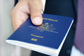 Hands Giving Passport Royalty Free Stock Photography - 54492057