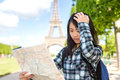 Young Attractive Asian Tourist Lost In Paris Royalty Free Stock Images - 54497209