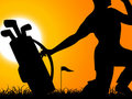 Man With Golf Bag Royalty Free Stock Images - 5453139
