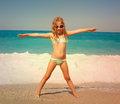 Girl  On The Beach Royalty Free Stock Images - 54501049