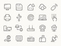 Network Communication And Electronics Line Icons Stock Images - 54502444