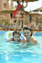 Family Relax In Pool Stock Photography - 54502692