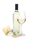 White Wine And Cheese Royalty Free Stock Photos - 54509928