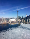 Downtown Toronto Skyline, Late Winter, With Ice On Lake Ontario Stock Photography - 54511272