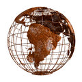 Rust Earth Planet 3D Globe Royalty Free Stock Photography - 54527547